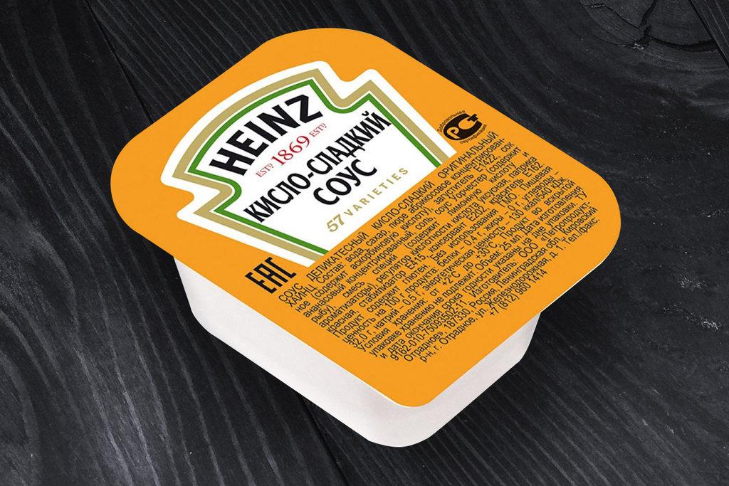 Соусы: Соус Кисло-сладкий порционный Heinz 25г дип-пот в SUPER KEБAБ