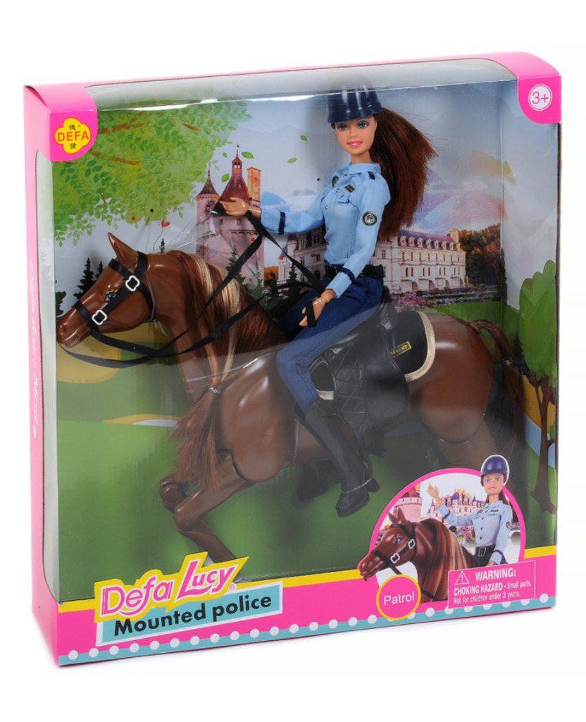 """Игрушки для девочек: Кукла """"Defa"""" на лошади """"Конная полиция"""" в Игрушки Сити"""