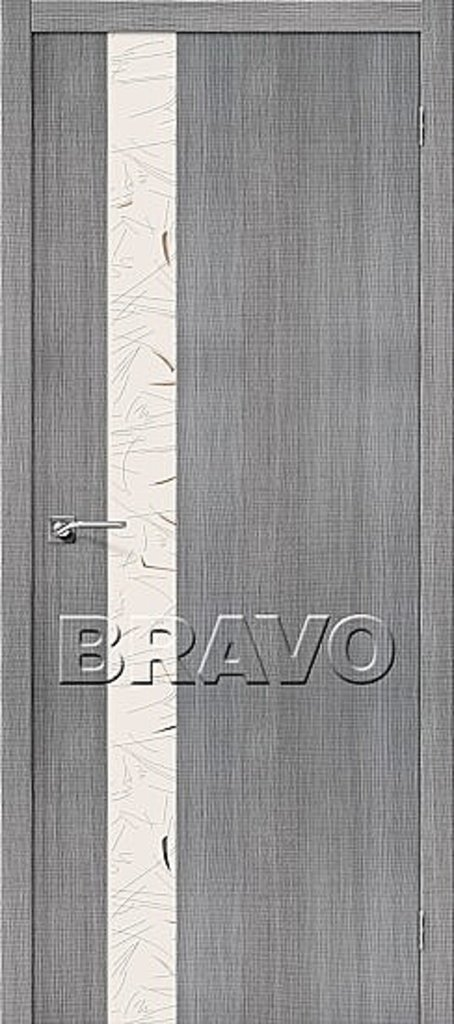 Двери экошпон BRAVO: Порта-51 SA Grey Crosscut в STEKLOMASTER
