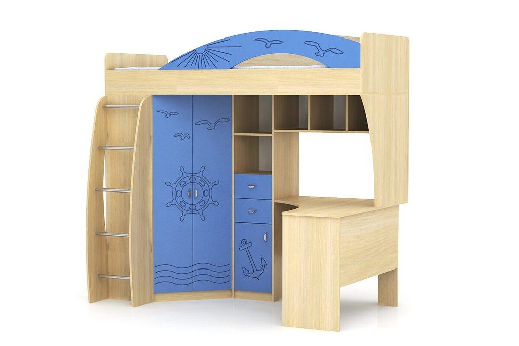 Детские и подростковые кровати: Шкаф-кровать Денди Морячок МДФ в Стильная мебель