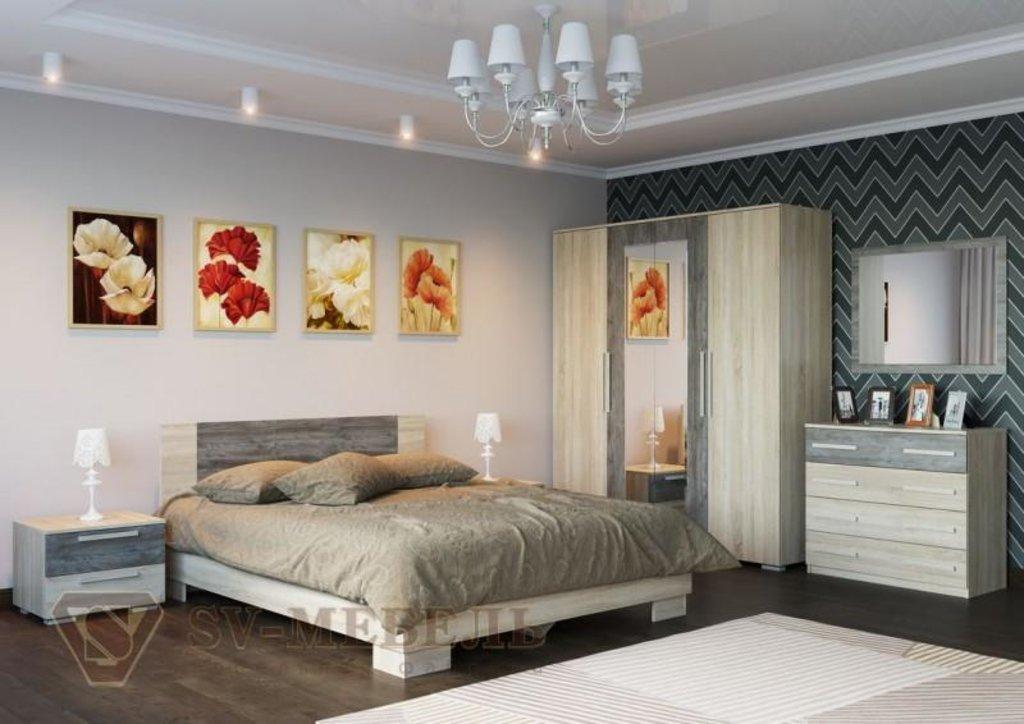 Мебель для спальни Лагуна-2: Кровать двойная (Без матраца 1,6*2,0) Лагуна-2 в Диван Плюс