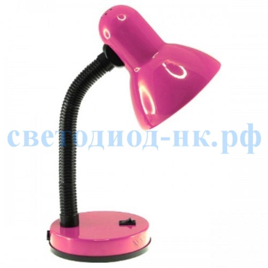 Настольные лампы, ночники: Лампа настольная розовая на подставке в СВЕТОВОД