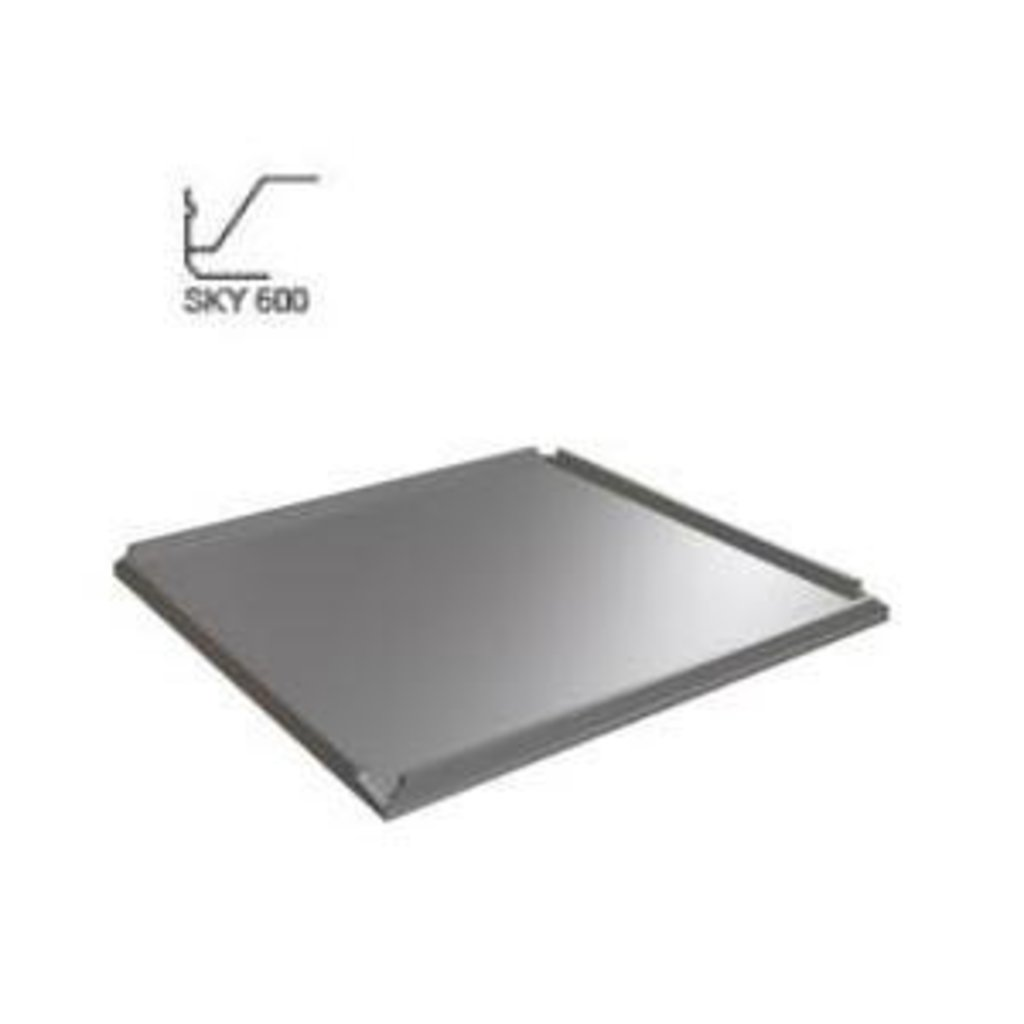 Кассетные металлические потолки: Алюминевая панель SKY T24/TY металлик серебристый (Cesal) в Мир Потолков