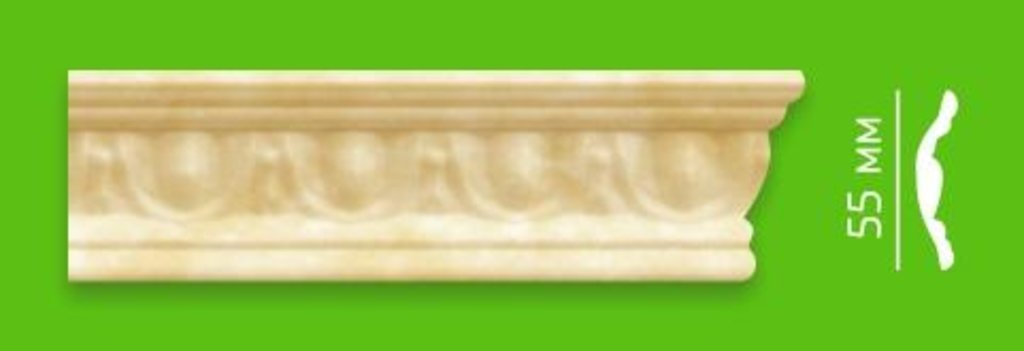 Плинтуса потолочные: Плинтус потолочный ламинированный IMS M12-18 в Мир Потолков