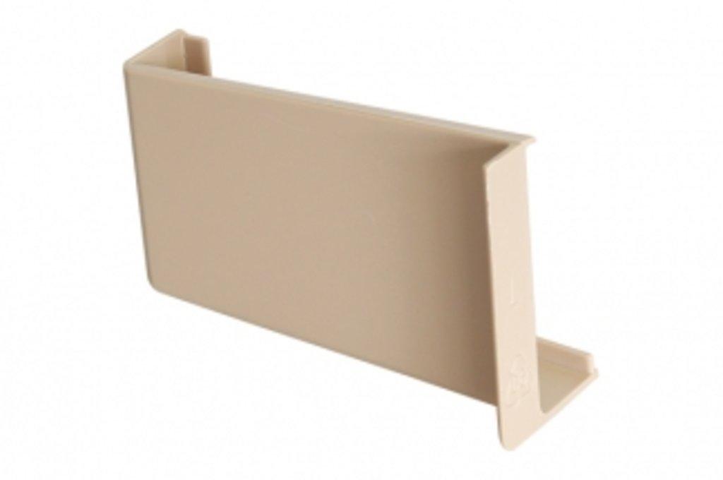 Подвеска полок: Крышечка декоративная для подвески арт.806 бежевая, левая в МебельСтрой