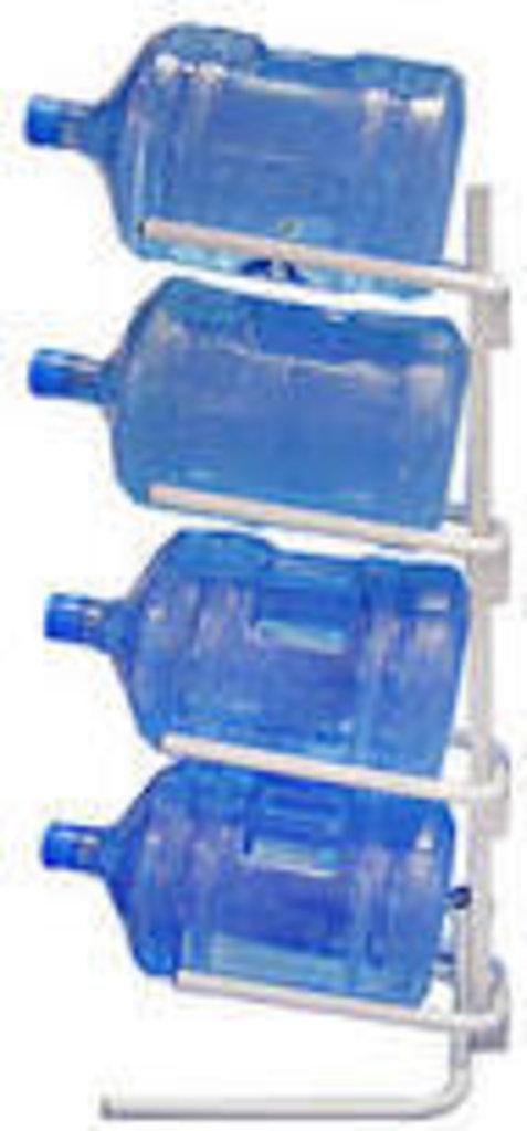 Запчасти к кулерам для воды: Стеллаж для бутылей на 4 секции в ЭкоВода