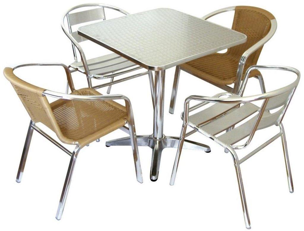 Столы для летних кафе, ресторанов: Стол алюминиевый 600х600 мм. 1203DP в АРТ-МЕБЕЛЬ НН