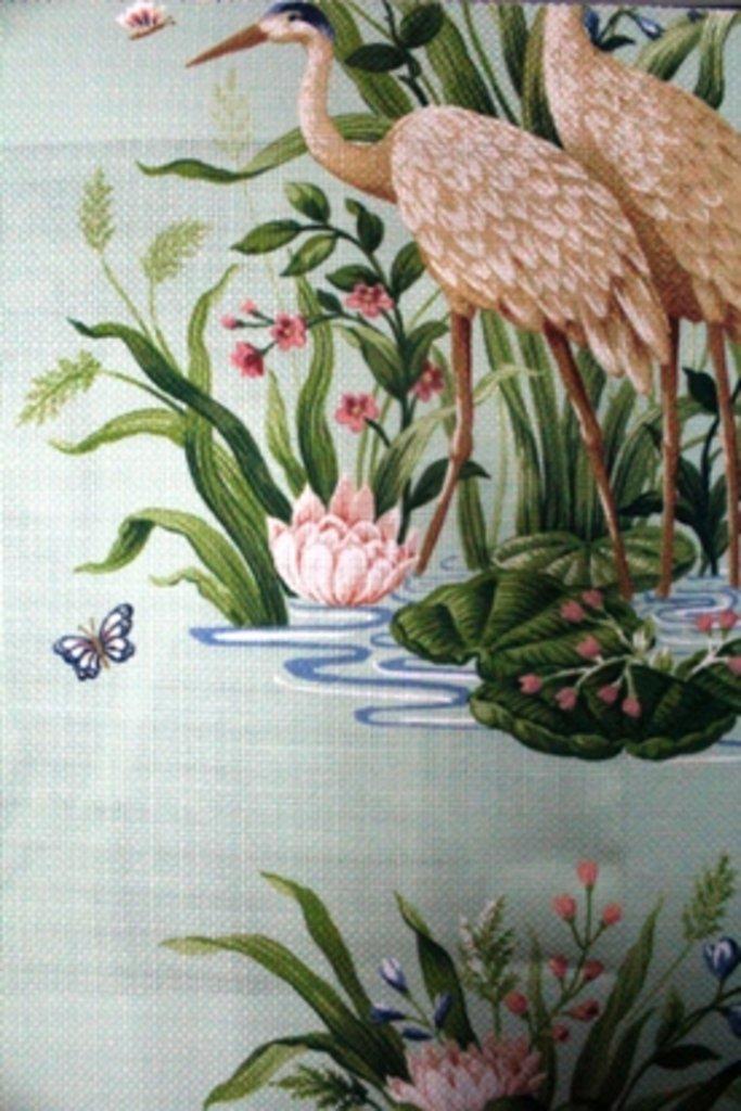 Портьерные ткани: Waterbirds в Салон штор, Виссон