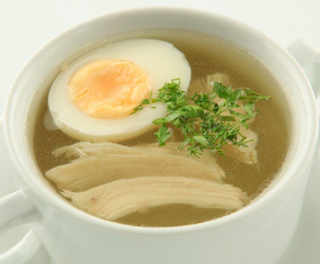 Диетическое меню: Куриный бульон с курочкой и яйцом 350мл в Смак-нк.рф
