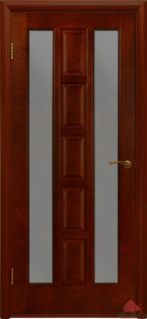 Двери Белоруссии  шпонированые: Квадро (каштан) в STEKLOMASTER