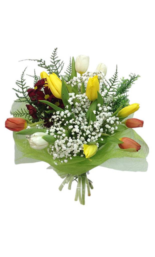 """Букеты и композиции из живых цветов: Букет """"Весеннее настроение"""" в Цветы доставка"""