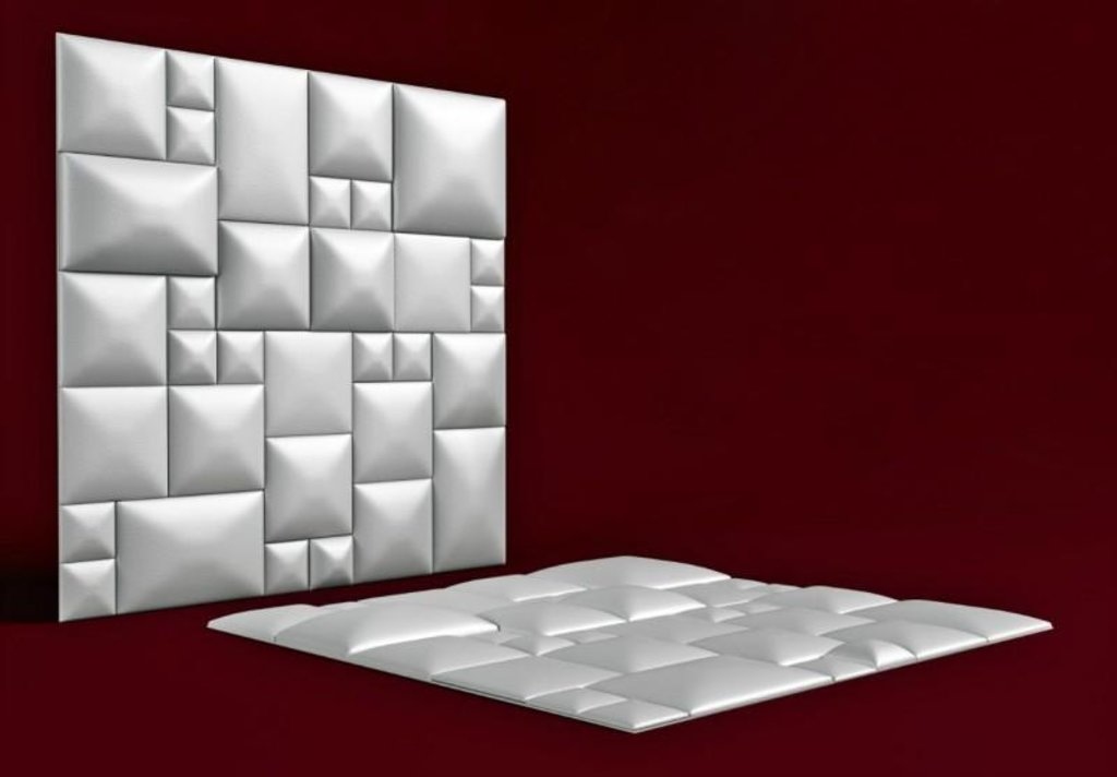 Кожаные стеновые панели: Кожаная 3D панель Mazaika в Мир Потолков