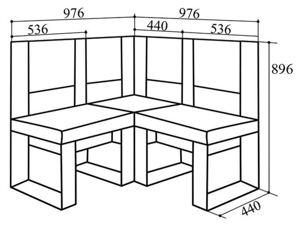 Кухонные уголки: Кухонный уголок КУ-80м ЛЮКС в Уютный дом