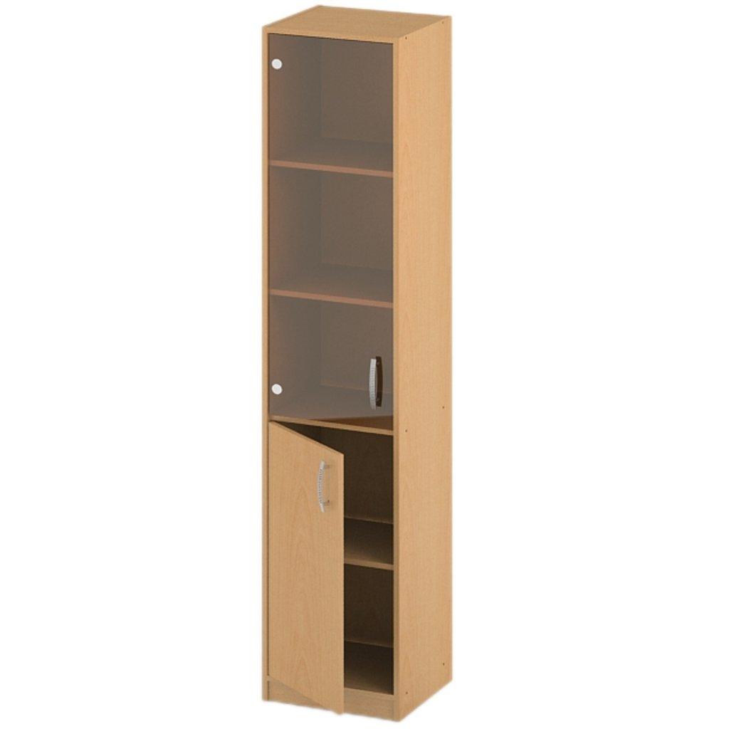 Офисная мебель пеналы, шкафы Р-16: Пенал стекло тонированное (16) 1840*360*380 в АРТ-МЕБЕЛЬ НН
