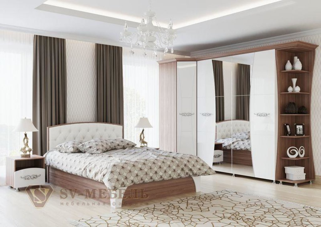 Мебель для спальни Лагуна-7: Кровать двойная (универсальная) без матраца Лагуна 7 в Диван Плюс
