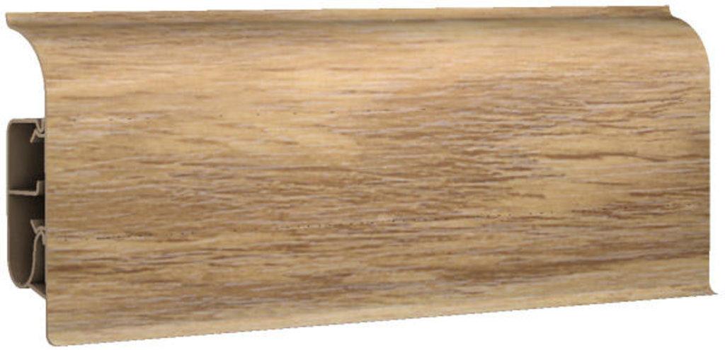 Плинтуса напольные: Плинтус напольный 85 полуматовый 8543 дуб шведский в Мир Потолков