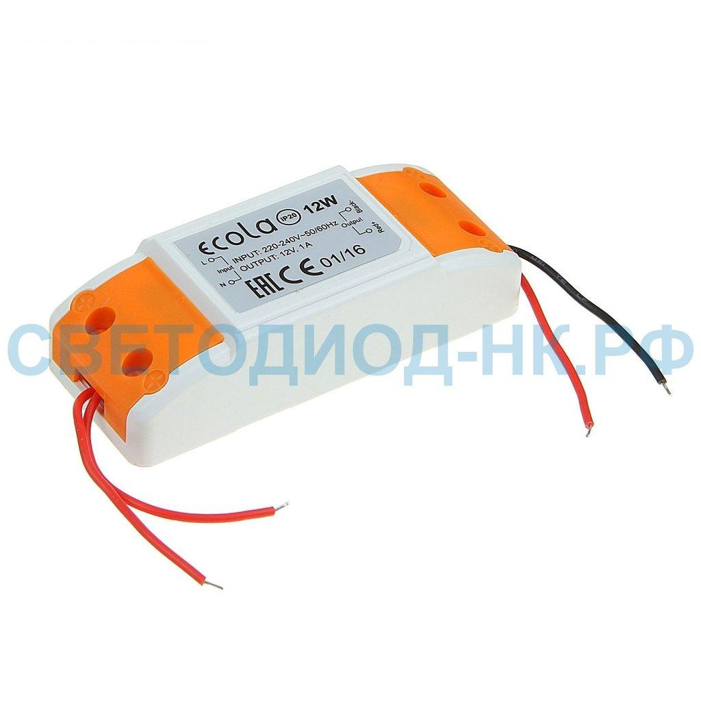 В защитном кожухе: Ecola БП для св/д лент 12V 12W IP20 B2N012ESB в СВЕТОВОД
