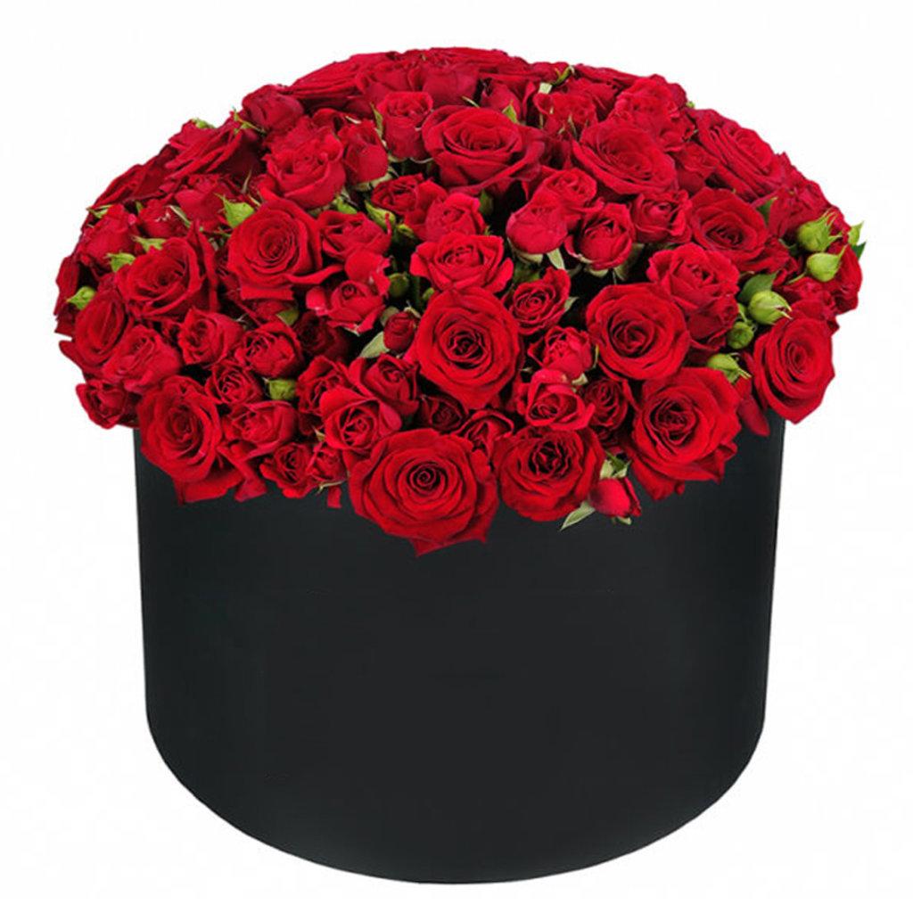 Коробки: 007 Цветы в шляпной  коробке в Lilies