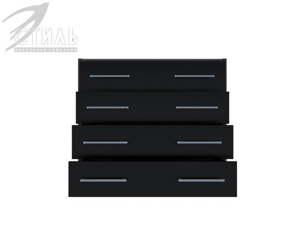 Мебель для спальни Луиза (венге / черный глянец): Комод Луиза (венге / черный глянец) в Диван Плюс