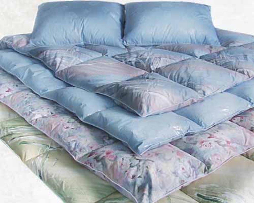 Одеяла 1-спальные 140*205: Одеяло 1-спальное 140*205 (перо + шлейс) в Дрёма