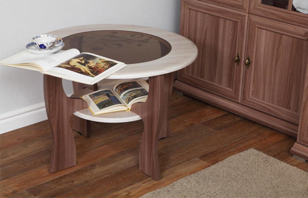 Столы журнальные: Журнальный столик Маджеста - 6 со стеклом и рисунком в Vesa