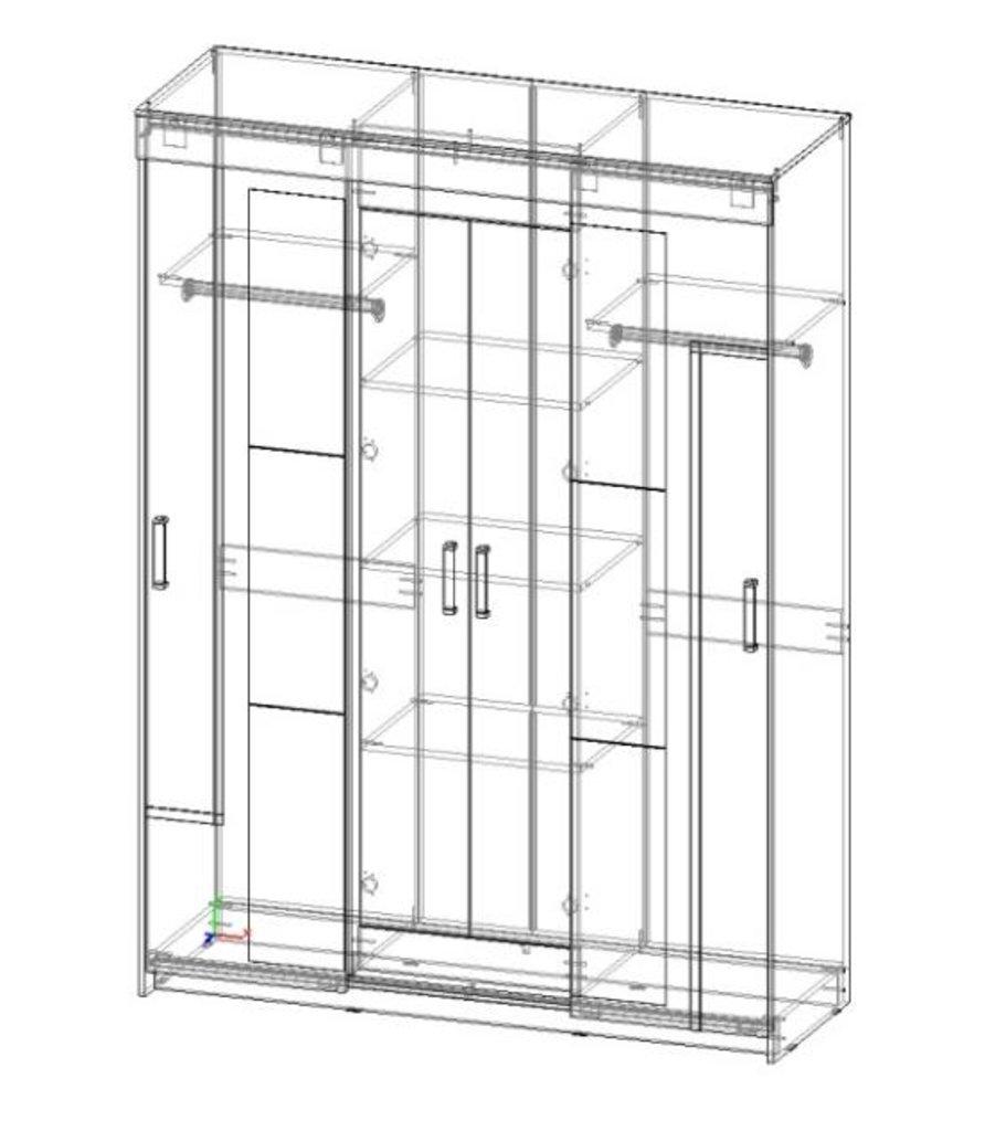 Шкафы: Шкаф-купе Комфорт-14 (Венге / Дуб молочный) в Диван Плюс