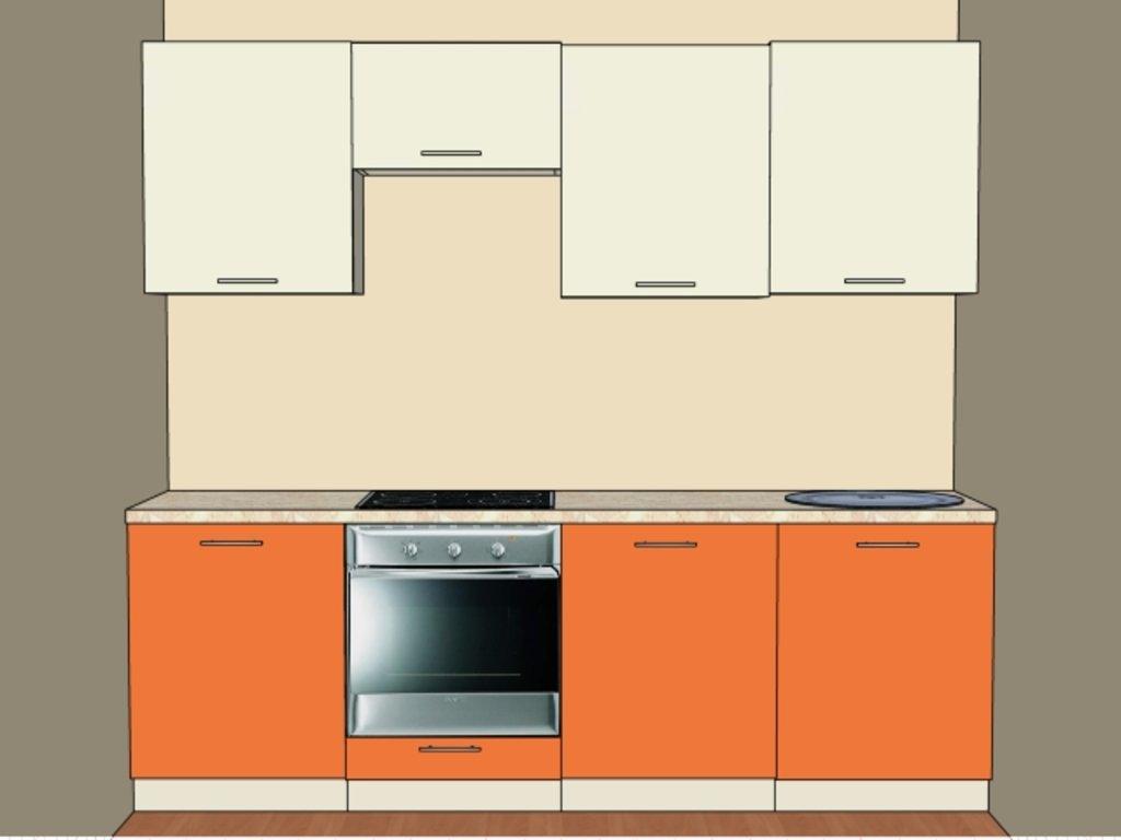 Кухонные гарнитуры: Стандартная кухня №4 Пленка ПВХ 1 категория в Мебель Белкино
