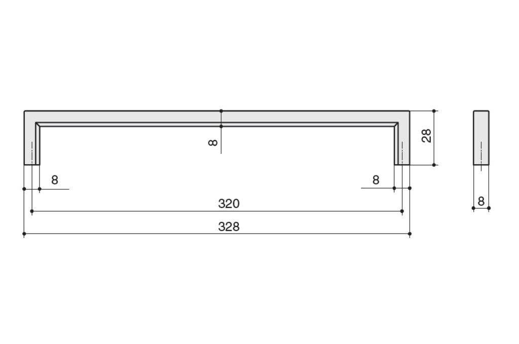 """Мебельная фурнитура """"НОВИНКИ"""": Ручка-скоба 320мм, отделка черный нефтяной в МебельСтрой"""