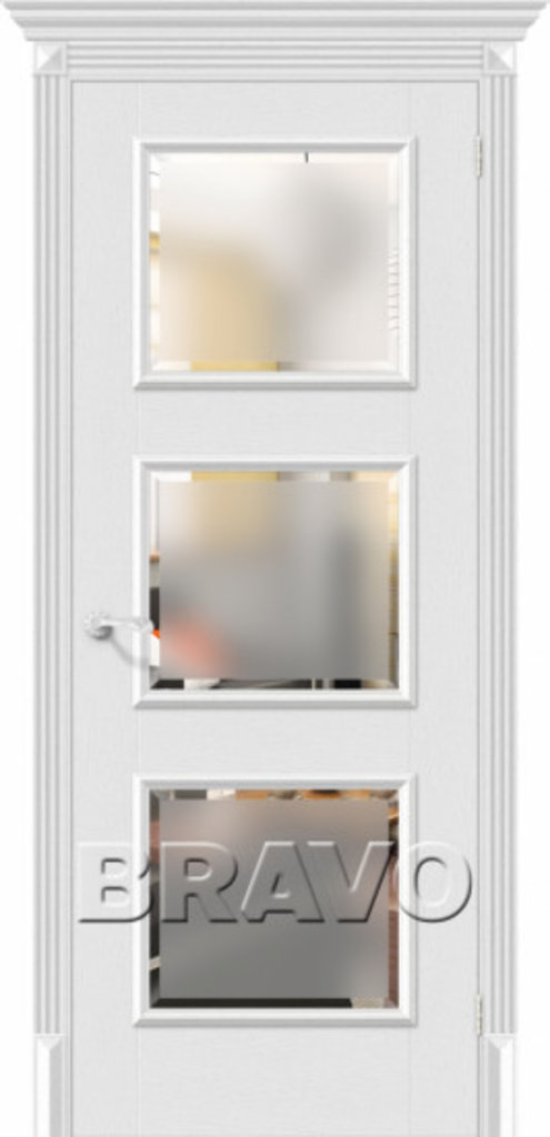 Двери экошпон BRAVO Classico: Классико-17.3 Virgin в STEKLOMASTER
