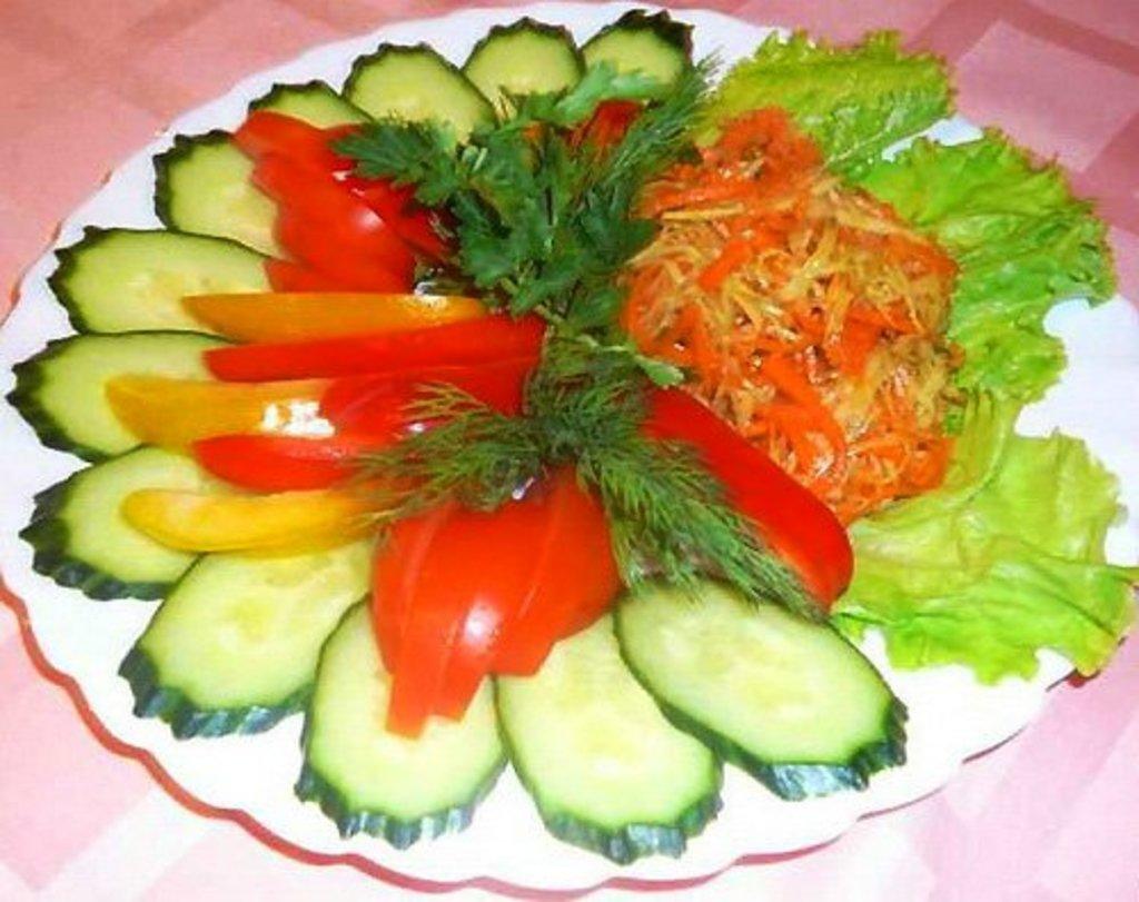 Банкетное меню: Ассорти овощное в Смак-нк.рф