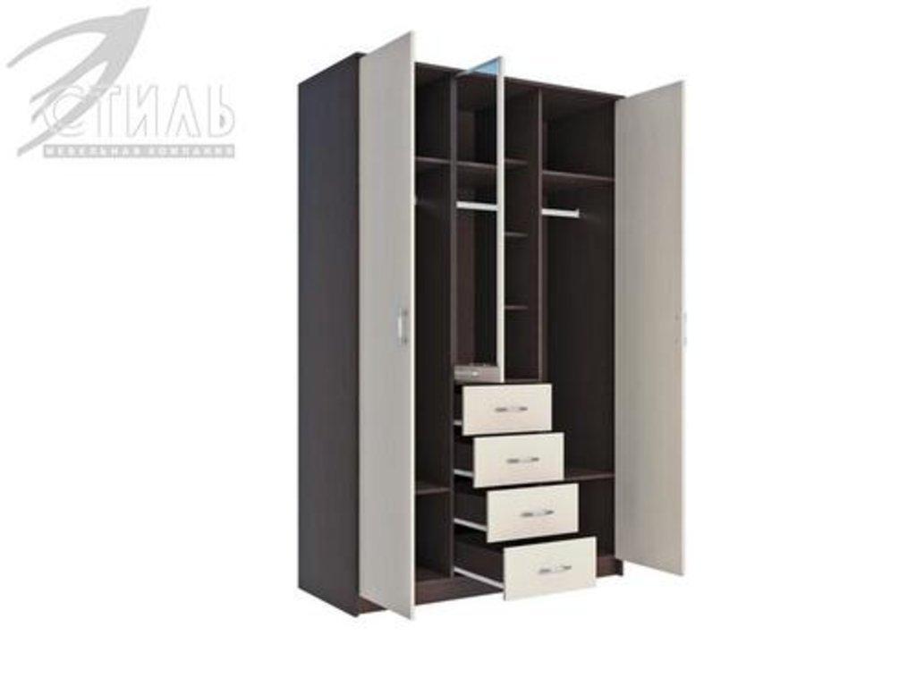 Шкафы: Шкаф Комфорт-4 (Венге / Дуб молочный) в Диван Плюс