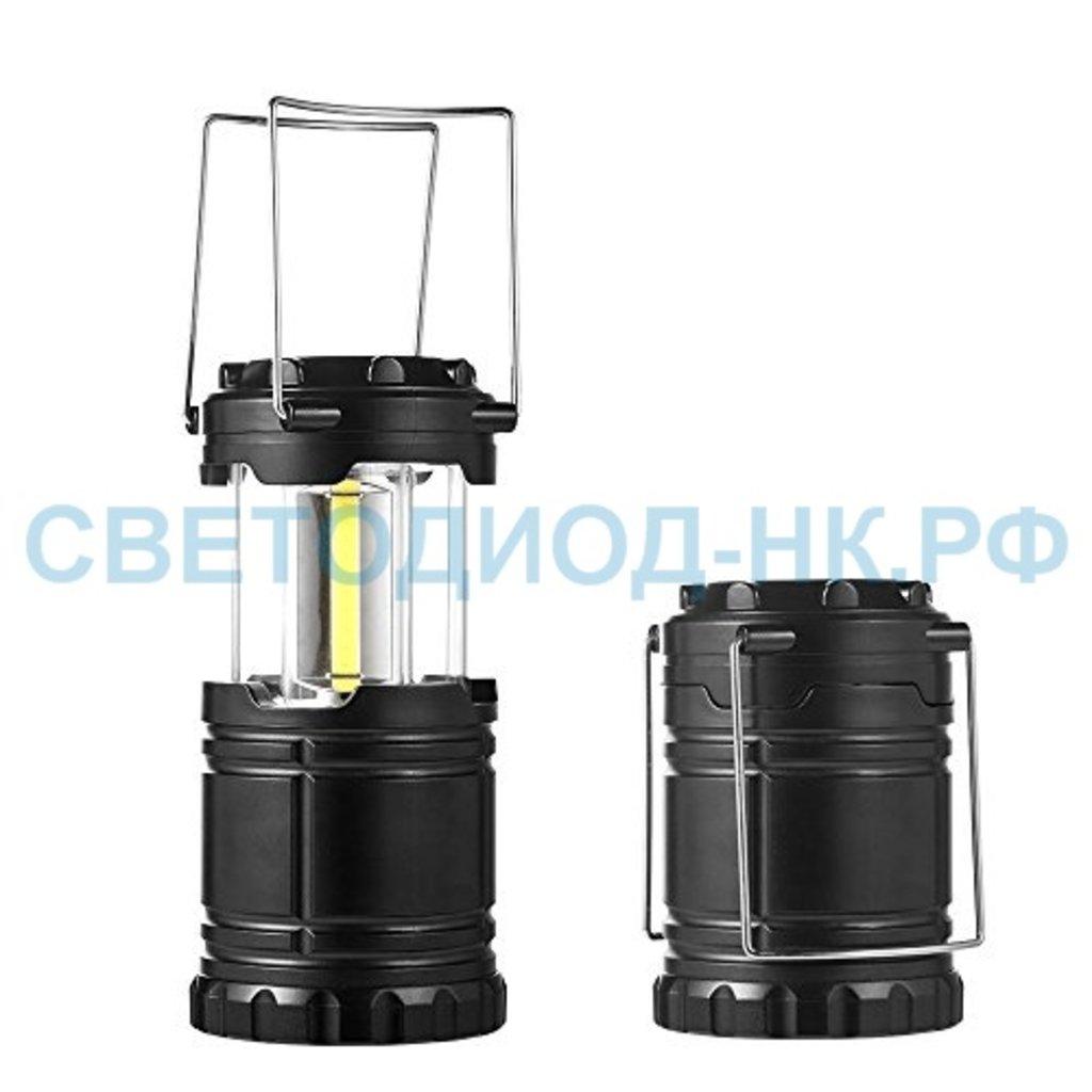 Светодиодные фонари, пушлайты: Облик фонарь кемпинговый 4030 (3xR6) 3св/д СОВ 10Вт (250lm), складной, черн./пластик в СВЕТОВОД