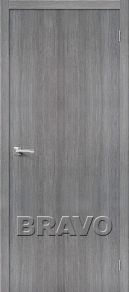 Двери экошпон BRAVO: Тренд-0 Grey Veralinga в STEKLOMASTER