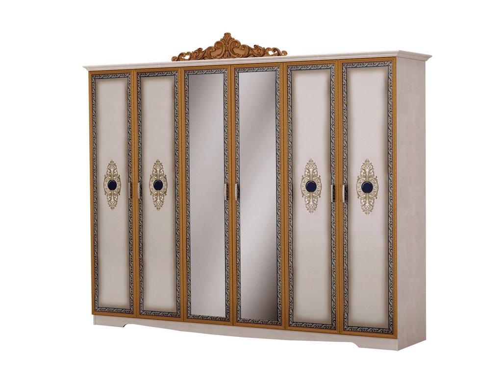 Шкафы для спальни: Шкаф 6-дверный Сицилия в Стильная мебель
