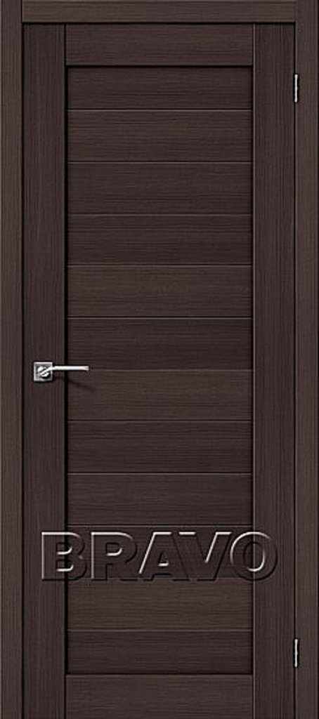 Двери экошпон BRAVO: Порта-21 Wenge Veralinga в STEKLOMASTER