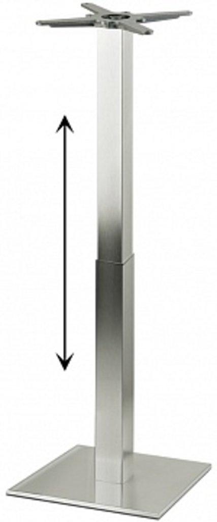 Подстолье, опоры: Подстолье регулируемое 1265EM (нержавеющая сталь матовое) в АРТ-МЕБЕЛЬ НН