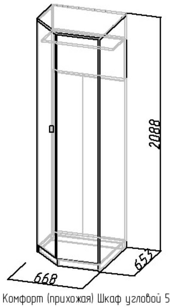 Шкафы для прихожих: Шкаф угловой 5 Комфорт в Стильная мебель