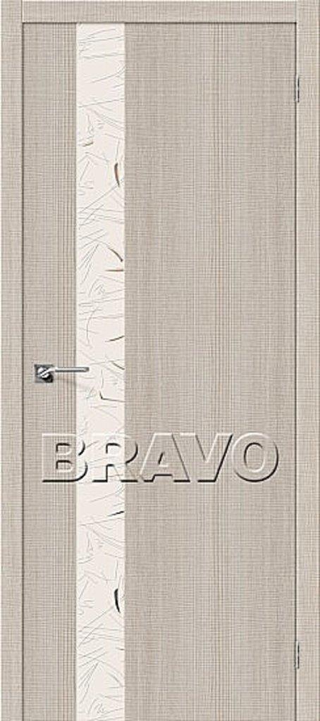 Двери экошпон BRAVO: Порта-51 SA Cappuccino Crosscut в STEKLOMASTER