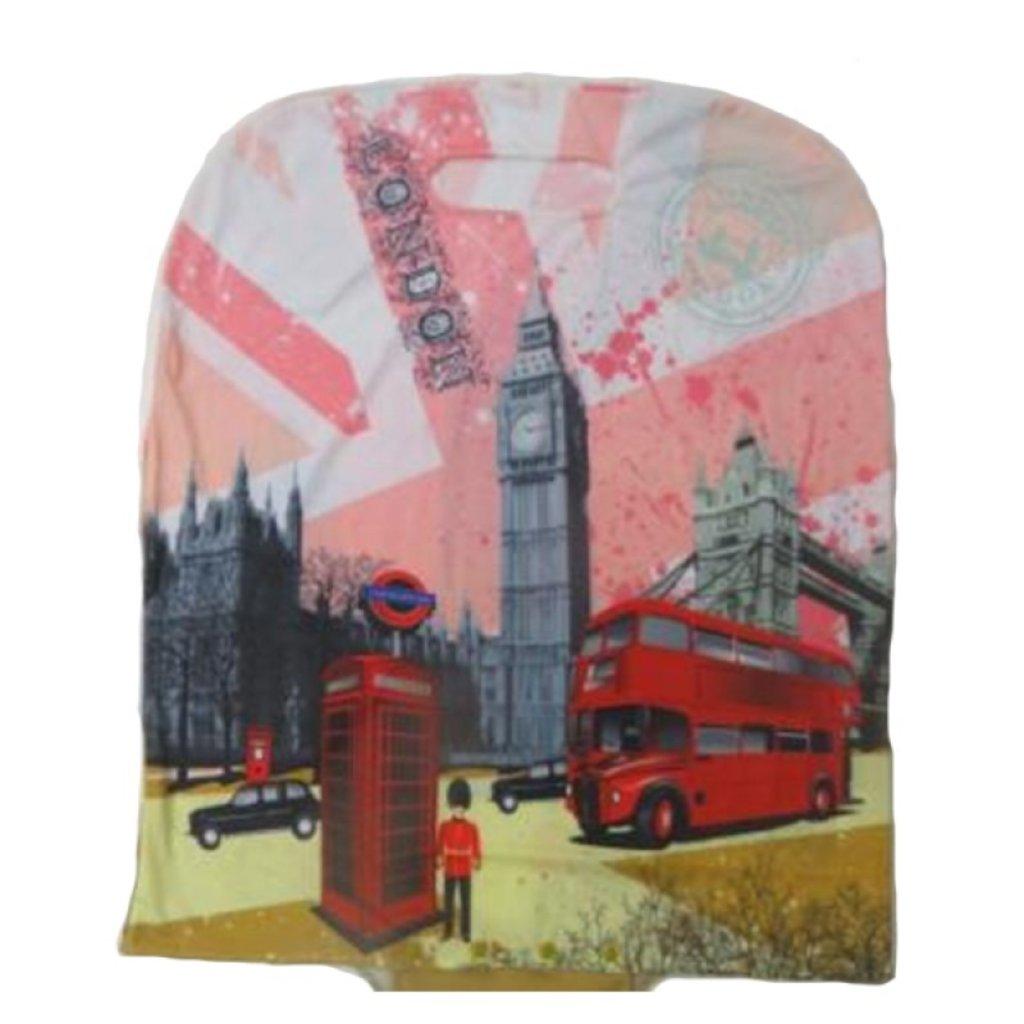 Чехлы для чемоданов: Б-Ч-329960-M принт-Лондон, Чехол для чемодана на кнопках в Робинзон