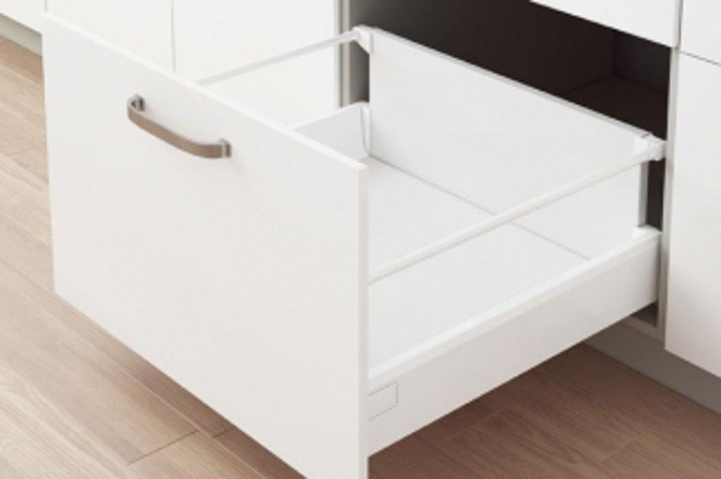 Наборы ящиков TEN: Набор ящика TEN H=XL, L=400 с профилем-расширителем, отделка белая в МебельСтрой