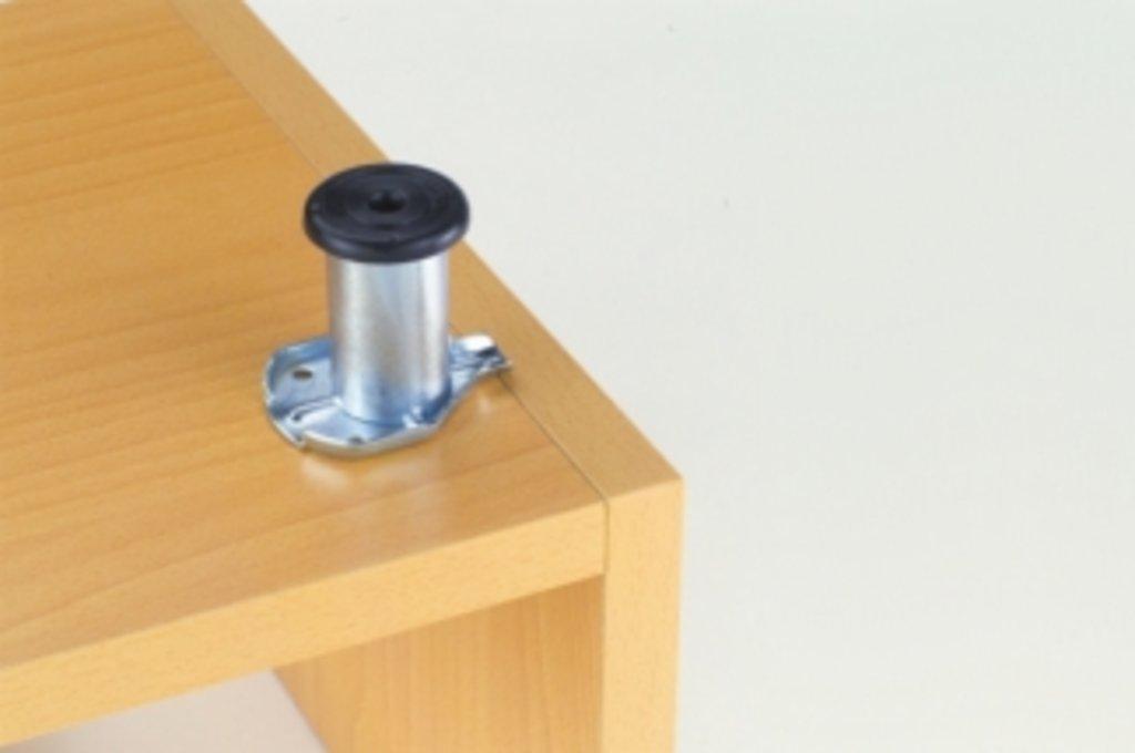 Ножки накладные: Ножка опорная H80, накладная в МебельСтрой