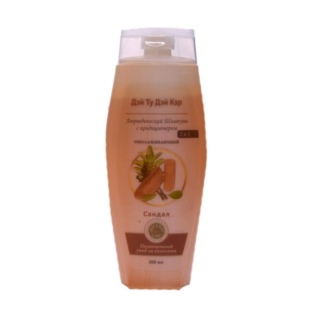Средства для волос: Аюрведический шампунь с кондиционером - Сандал (Day 2 Day Care). Омолаживающий в Шамбала, индийская лавка