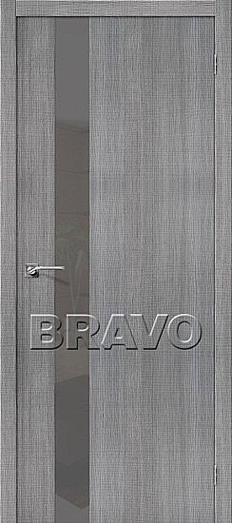 Двери экошпон BRAVO: Порта-51 Smoke Grey Crosscut в STEKLOMASTER