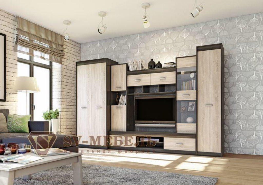 Мебель для гостиной Гамма-19: Пенал Гамма-19 в Диван Плюс
