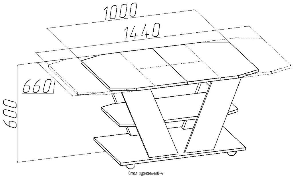 Журнальные и кофейные столики: Стол журнальный-4 (Глазов) в Стильная мебель