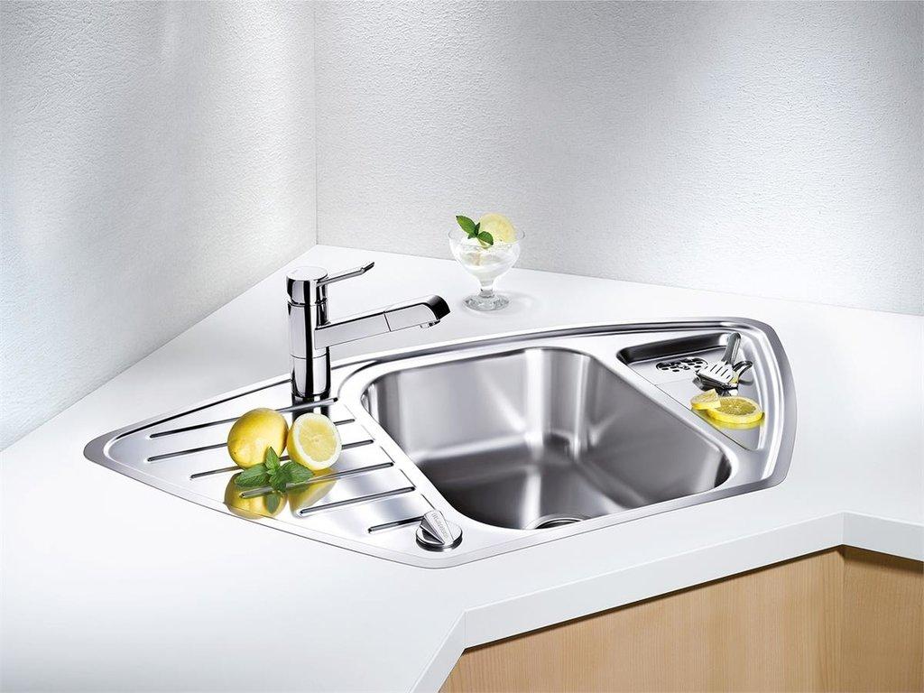 Мойки для кухни: Угловая мойка в ВДМ, Все для мебели, ИП Жаров В. Б.