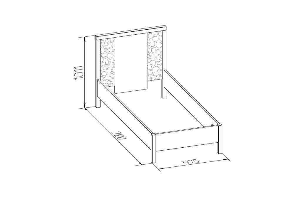 Кровати: Кровать (900) Дерево WYSPAA 25 в Стильная мебель