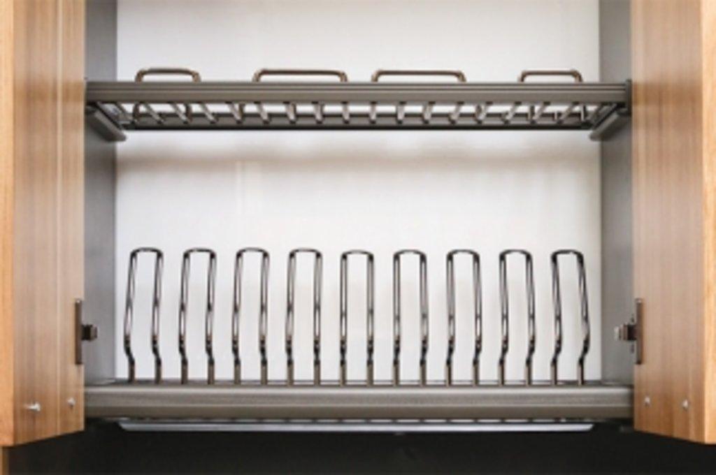 """Мебельная фурнитура """"НОВИНКИ"""": Сушка Ellite 2-уровневая в базу 450/16, отделка хром, поддон пластик в МебельСтрой"""