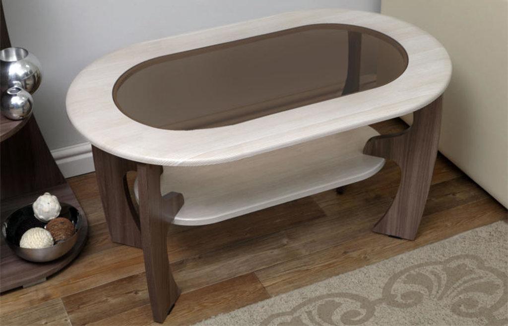 Столы журнальные: Журнальный столик Маджеста - 2 со стеклом в Vesa
