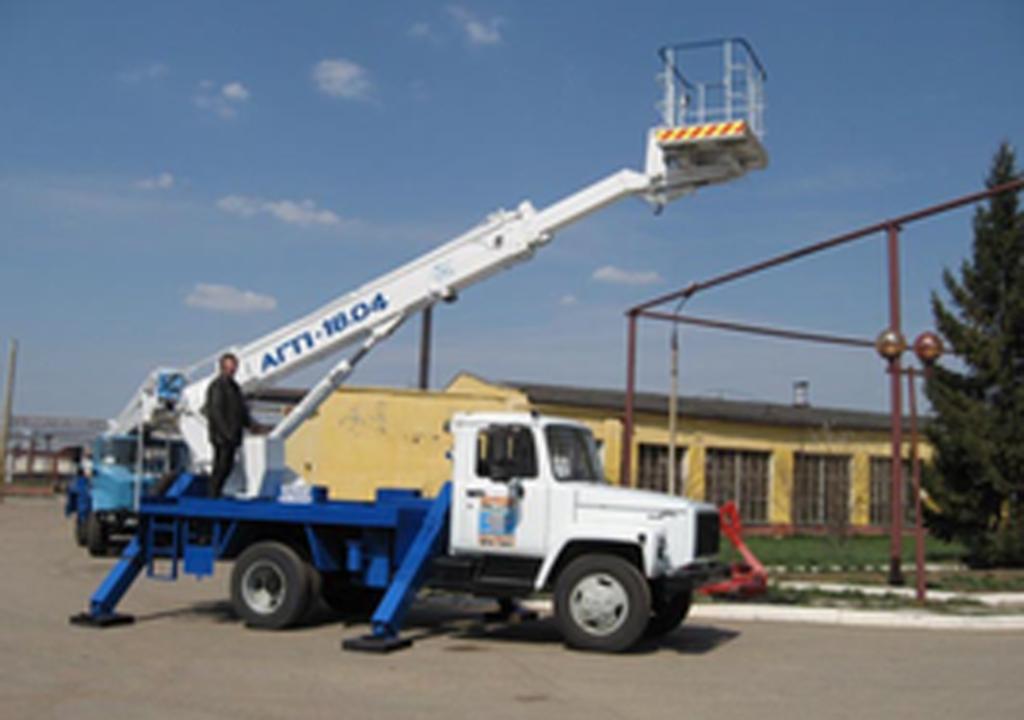Спецтехника, общее: Автовышка АГП 18.04 на базе ГАЗ 3309 в ПромЭнергоКомплекс